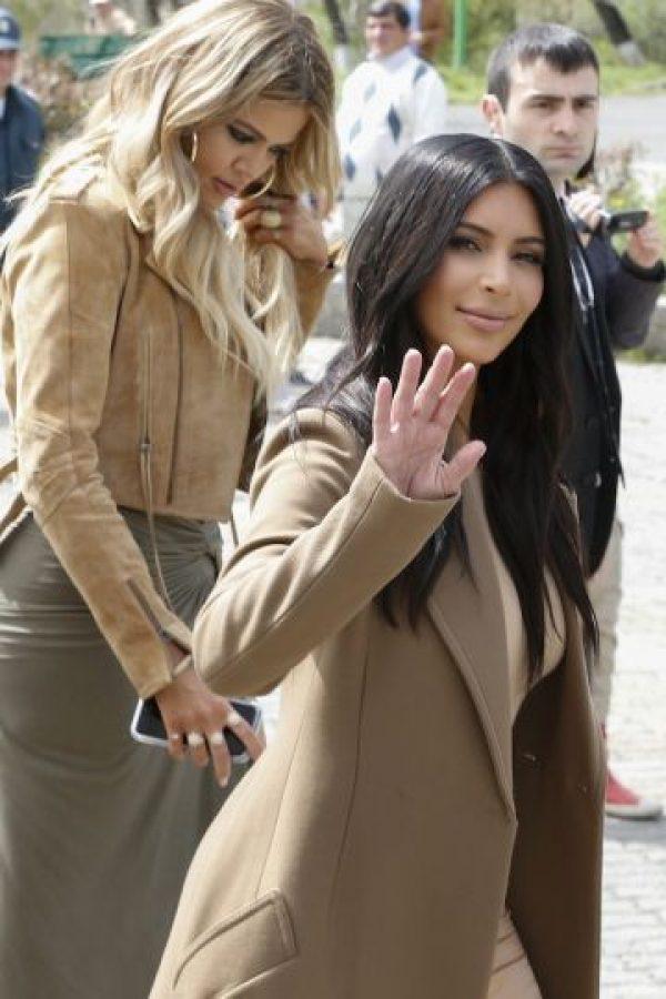 Kim y Kanye West visitaron una iglesia en Jerusalén. Foto:Getty Images