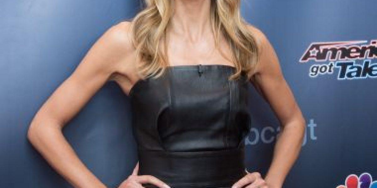 FOTO: La supermodelo Heidi Klum presume su antes y después del maquillaje