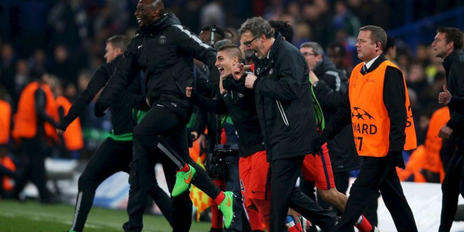 Así celebró Laurent Blanc el pase del PSG a cuartos de final Foto:Getty Images