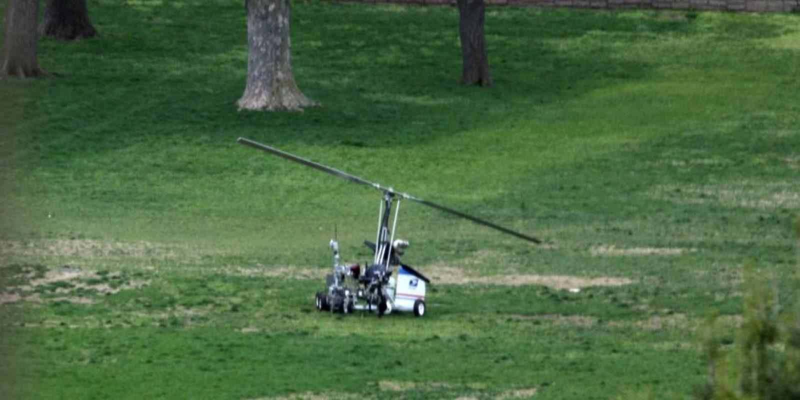 Así fue el aterrizaje del girocóptero. Foto:AP