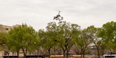 Aterrizó sin autorización en el césped oeste del Capitolio de Estados Unidos. Foto:AP