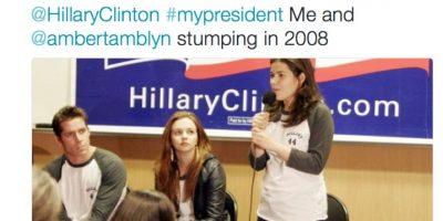 La actriz America Ferrera la apoyará durante su campaña. Foto:Twitter