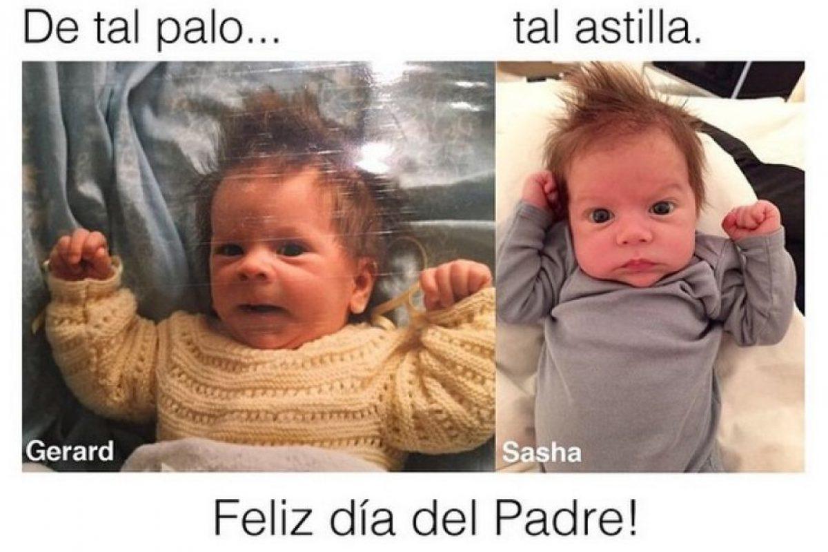 Sasha nació el 29 de enero y es la viva imagen de Gerard Piqué Foto:Instagram/shakira