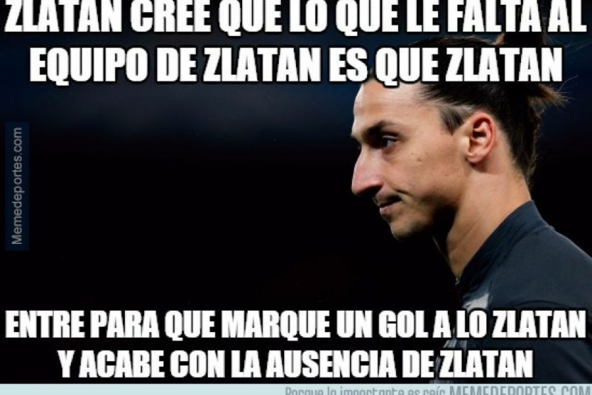 Sin duda, Zlatan le hizo mucha falta a su equipo. Foto:Vía memedeportes.com