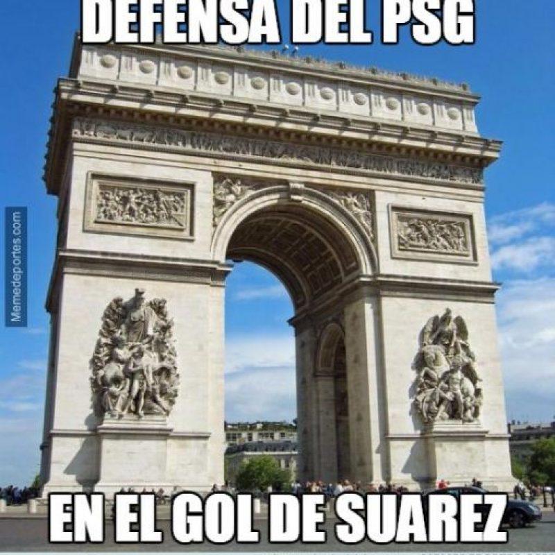 Aunque por esto, dejara en ridículo a la defensa del PSG… Foto:Vía memedeportes.com