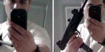 Después de robar un iPhone se tomó un selfie y lo envió a todos los contactos (además posó con un arma). Foto:vía Ranker