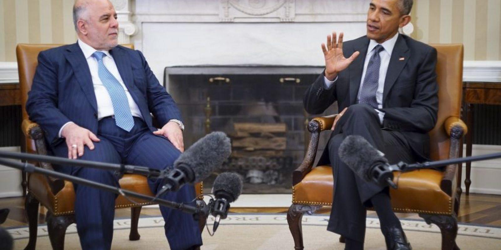 Haider al Abadi primer ministro de Irak, pidió más ayuda de la Casa Blanca para combatir al Estado Islámico Foto:AFP