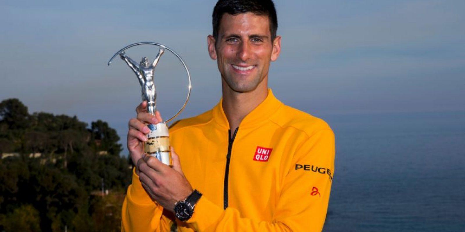 El tenista serbio Novak Djokovic fue galardonado con el premio Laureus al Mejor Deportista de 2014. Foto:Getty Images