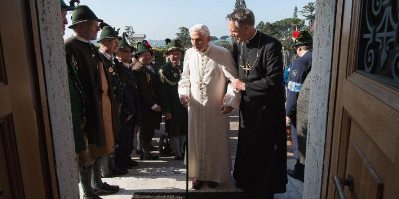 El festejo se llevó a cabo en el monasterio Mater Ecclesiae del Vaticano. Foto:AFP