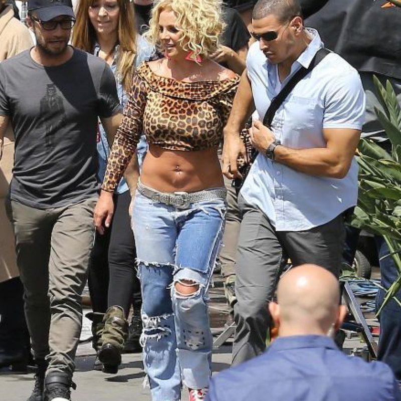 """Hace unos días la """"princesa del pop"""" fue criticada por su aumento de peso durante las grabaciones de su nuevo videoclip Foto:Grosby Group"""