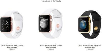 Los precio varían dependiendo del tamaño y la correa que quieran tener. Foto:Apple