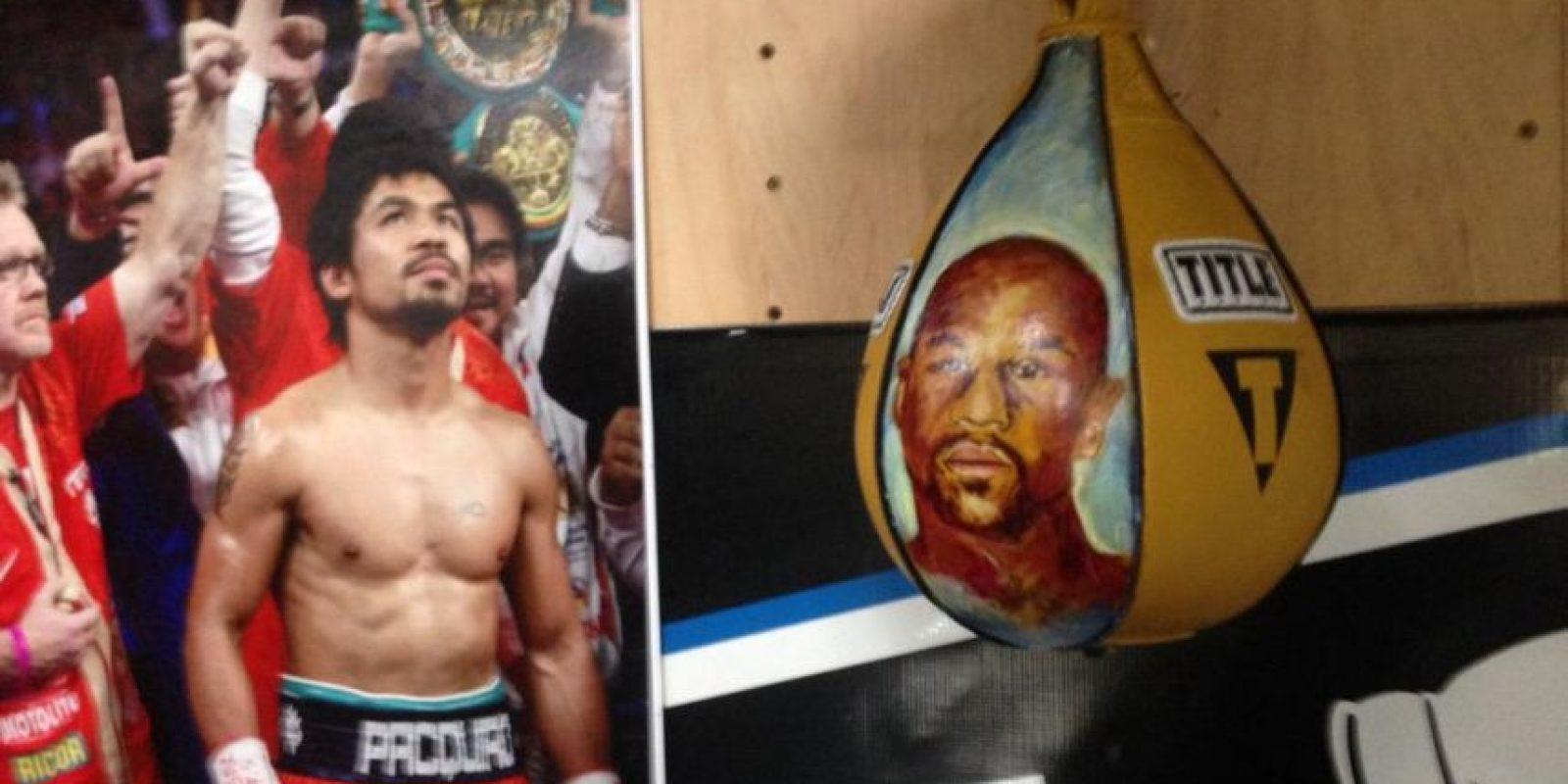 """Manny Pacquiao se prepara para la """"Pelea del Siglo"""" ante Floyd Mayweather. Foto:Vía twitter.com/trboxing"""