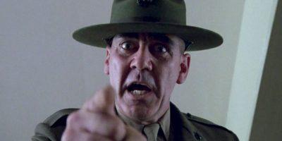 """El actor Lee Hermey, conocido por su papel de """"Gunnery Sergeant"""" en la película de Stanley Kubrik """"Full Metal Jacket"""" Foto:Warner Bros."""
