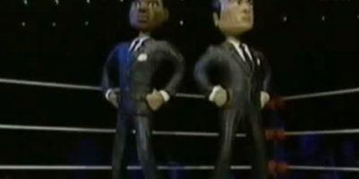 """Los """"Hombres de Negro"""" se enfrentan a Mulder y Scully, de """"Los Expedientes Secretos X"""". Foto:vía MTV"""