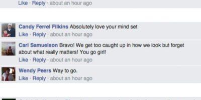 Varios fueron inspirados por este comentario, que los animó a desligarse de sus prejuicios. Foto:vía Facebook/Jessica Kane