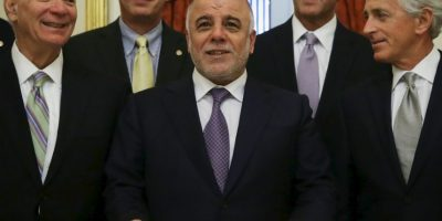 Al-Abadi fue descrito por el primer ministro de Inglaterra, David Cameron Foto:Getty Images