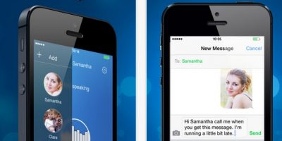 Voice SMS: conversen con sus amigos sin dedos. Graben mensajes de voz y envíenlos con un solo click. Foto:TalirApps
