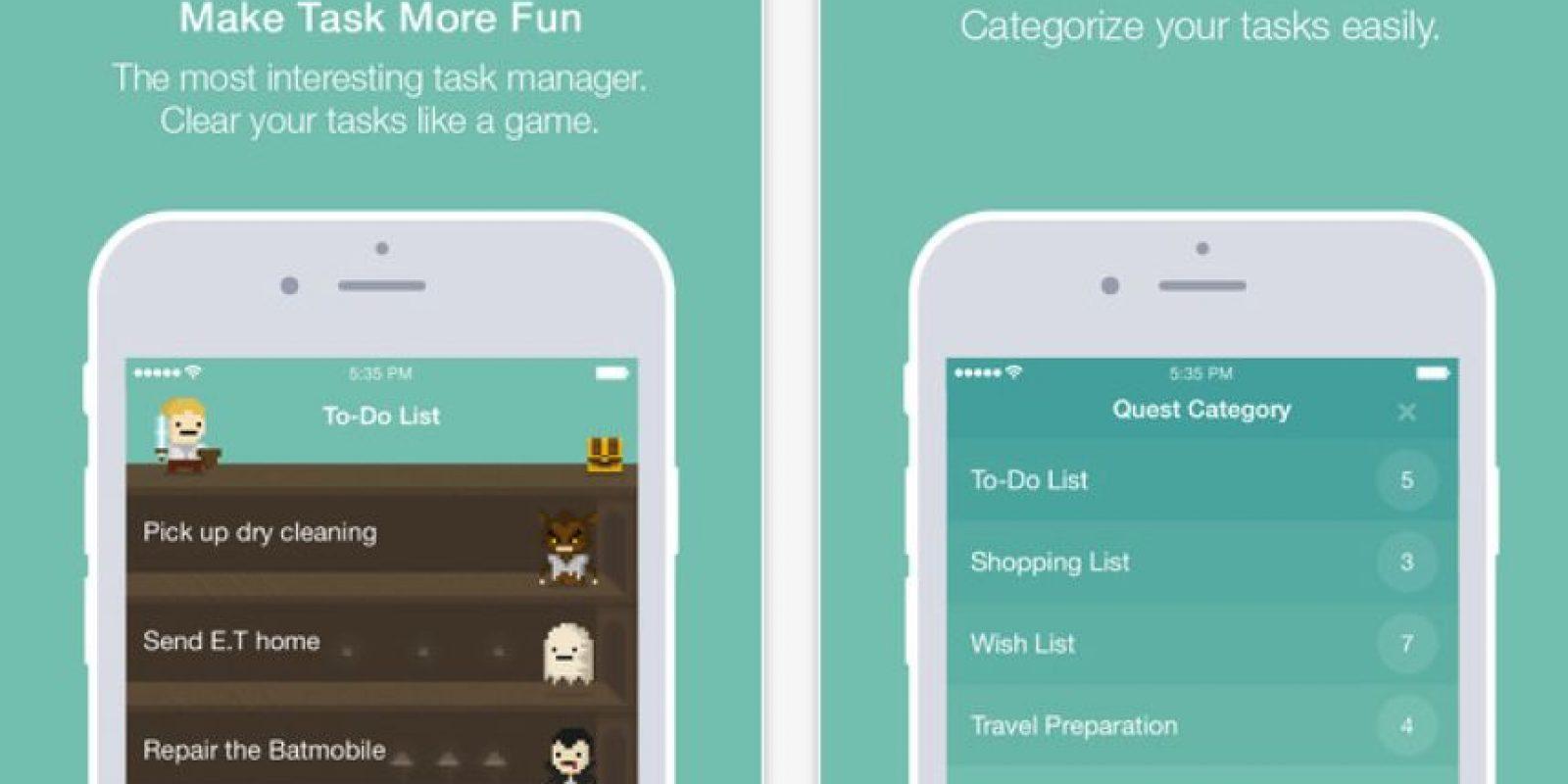 Quest: administren sus tareas jugando. Cada tarea completada te dará punto y podrás crear nuevos personajes. Foto:SangHeon Kim