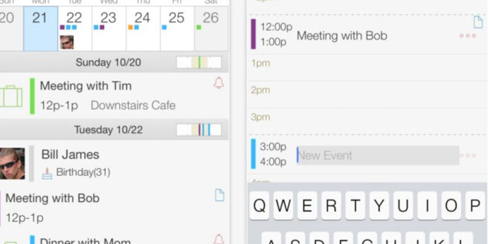 """Extreme Week Calendar: es la versión """"pocket"""" de Extreme Aggenda. Pueden sincronizarla con Exchange, Google y iCloud. Foto:Birdsoft LLC"""