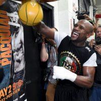 Mayweather está concentrado en su pelea ante Pacquiao Foto:Getty Images