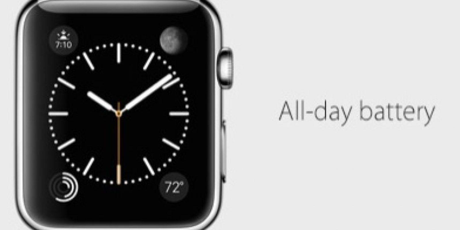 Batería: Duración aproximada de todo el día. Foto:Apple