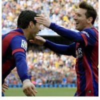 Luis Suárez felicitó a Messi. Foto:Instagram