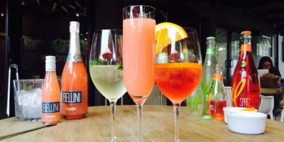 Bebidas refrescantes listas para disfrutar