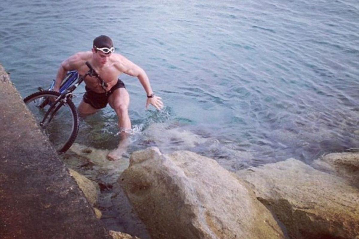 Nada, escala y también hace ciclismo. Foto:vía Instagram/ Pietro Boselli