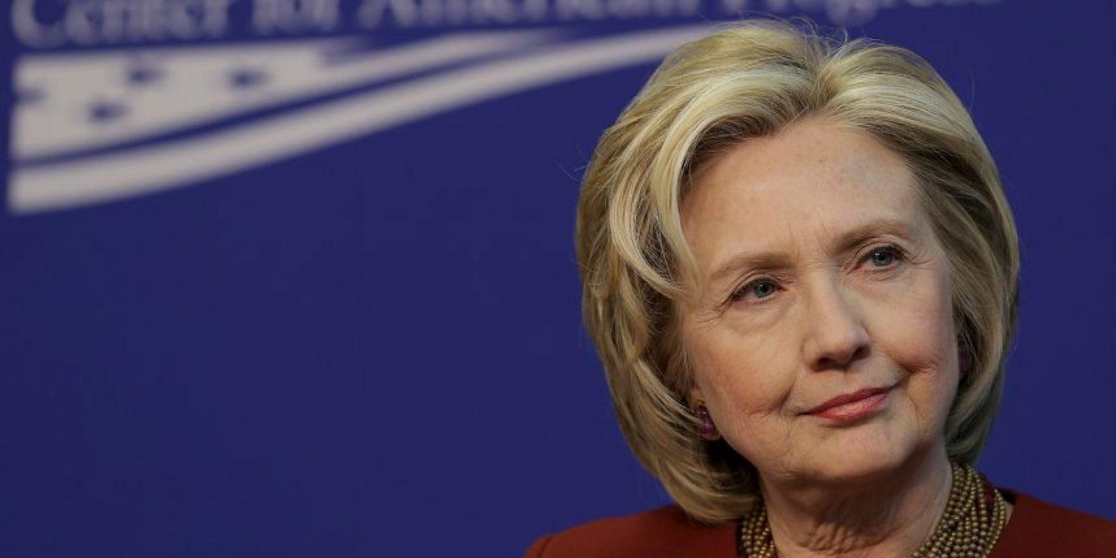Clinton tiene por meta convertirse en la primera presidenta del país. Foto:Getty Images