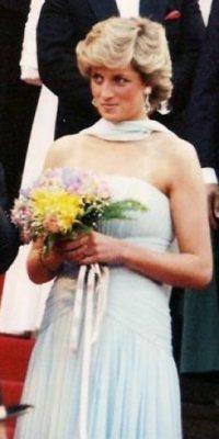 Diana lució un inolvidable vestido de novia con una cola de 25 metros de largo y 10 mil perlas bordadas a mano. Foto:Wikipedia