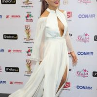 Angelique Boyer trata de imitar a las actrices de Hollywood, pero le sale mal. Foto: vía Getty Images