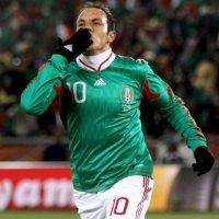 """Con 38 goles anotados con la Selección Mexicana, Cuauhtémoc es el tercer goleador histórico sólo superado por Javier """"Chicharito"""" Hernández (39) y Jared Borgetti (46). Foto:Getty Images"""