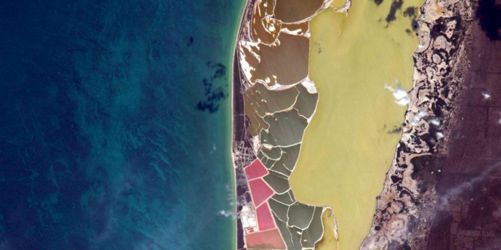 """""""No sé qué pasa aquí, pero esta es una playa en México"""" Foto:Facebook.com/pages/NASA-Astronaut-Scott-Kelly"""