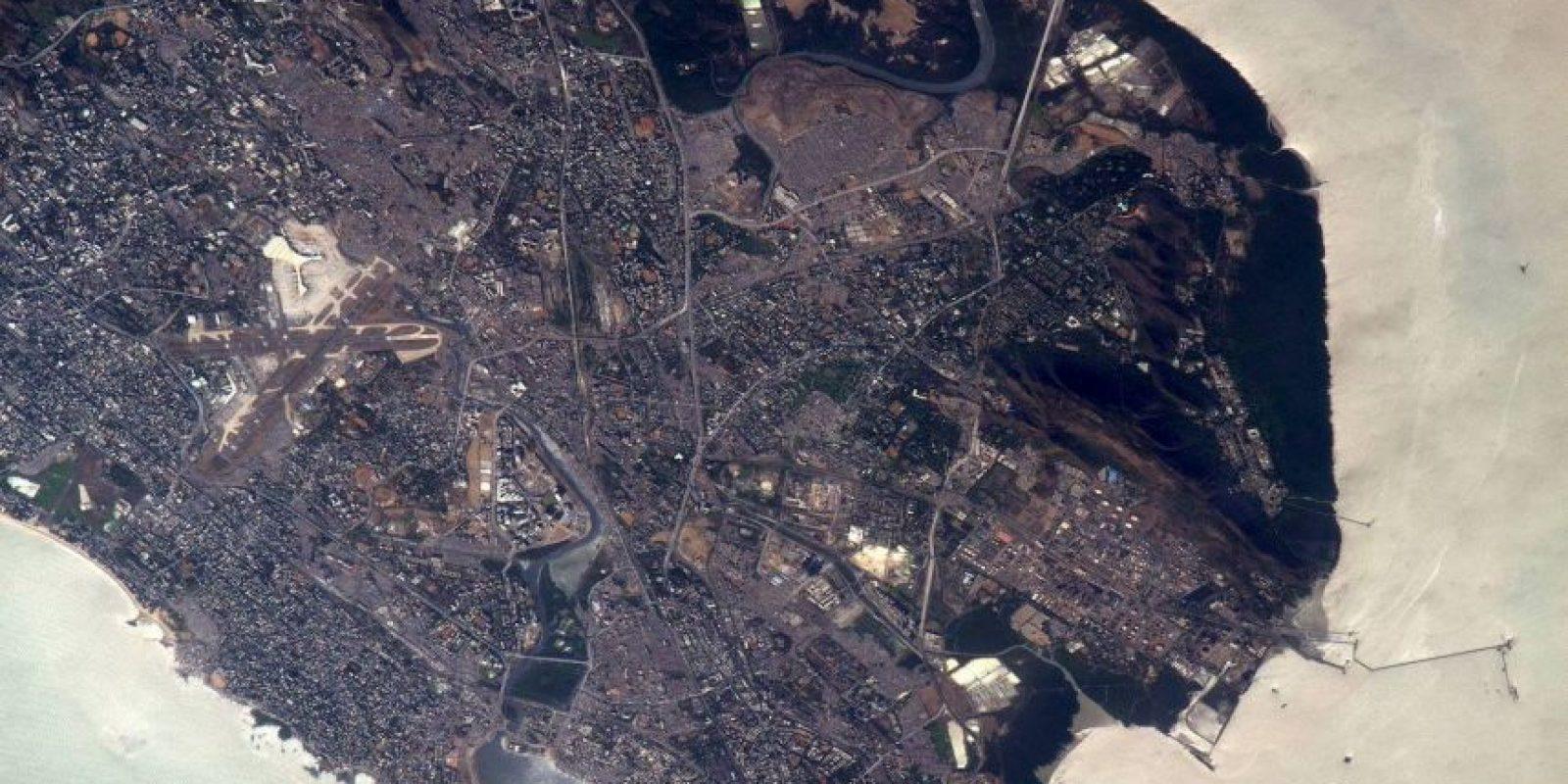 Así luce Bombay, en India. Foto:Facebook.com/pages/NASA-Astronaut-Scott-Kelly