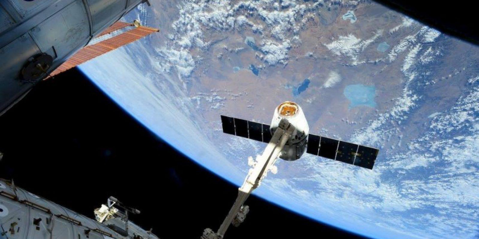 La llegada del SpaceX Dragon el pasado 17 de abril Foto:Facebook.com/pages/NASA-Astronaut-Scott-Kelly