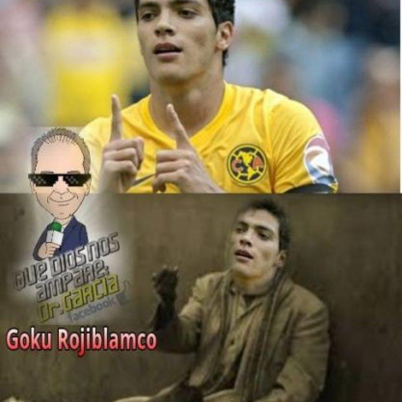 También hubo burlas para el mexicano Raúl Jiménez que no tuvo minutos. Foto:Vía Twitter