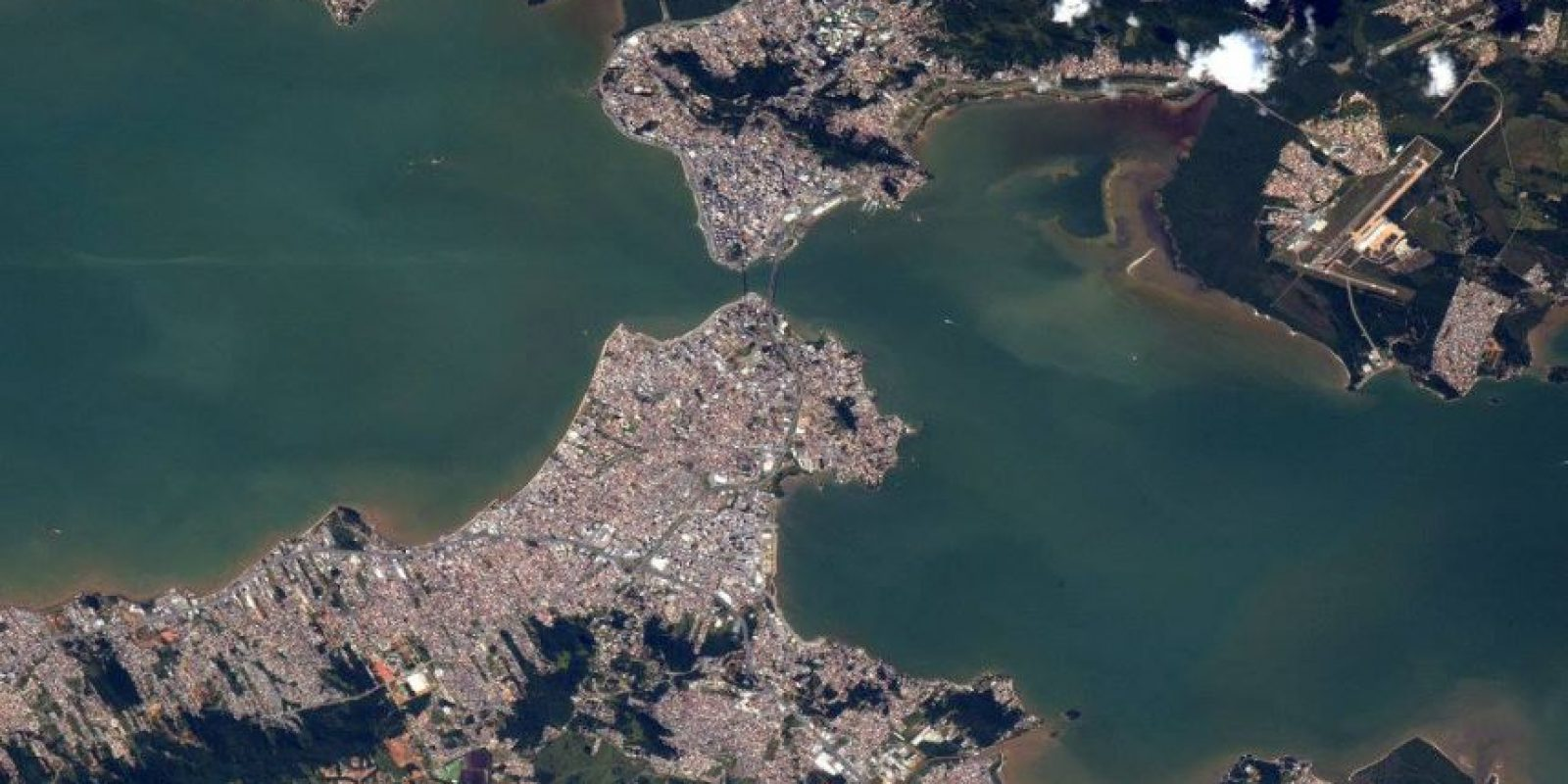 Y así luce Río de Janeiro, en Brasil Foto:Facebook.com/pages/NASA-Astronaut-Scott-Kelly