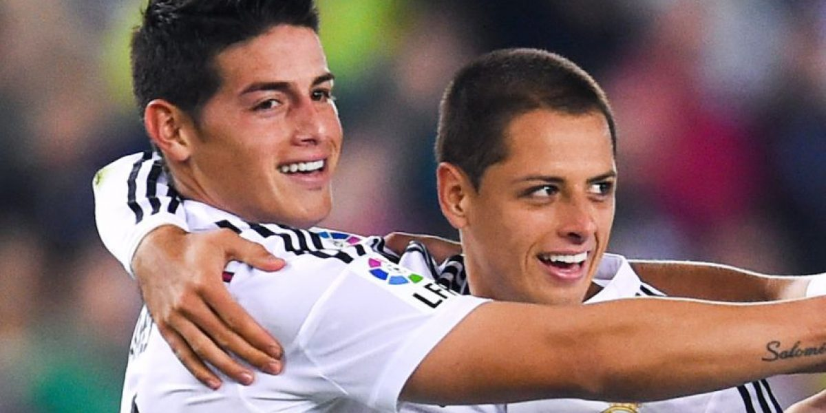 Chicharito y James fueron ovacionados en concentración del Real Madrid