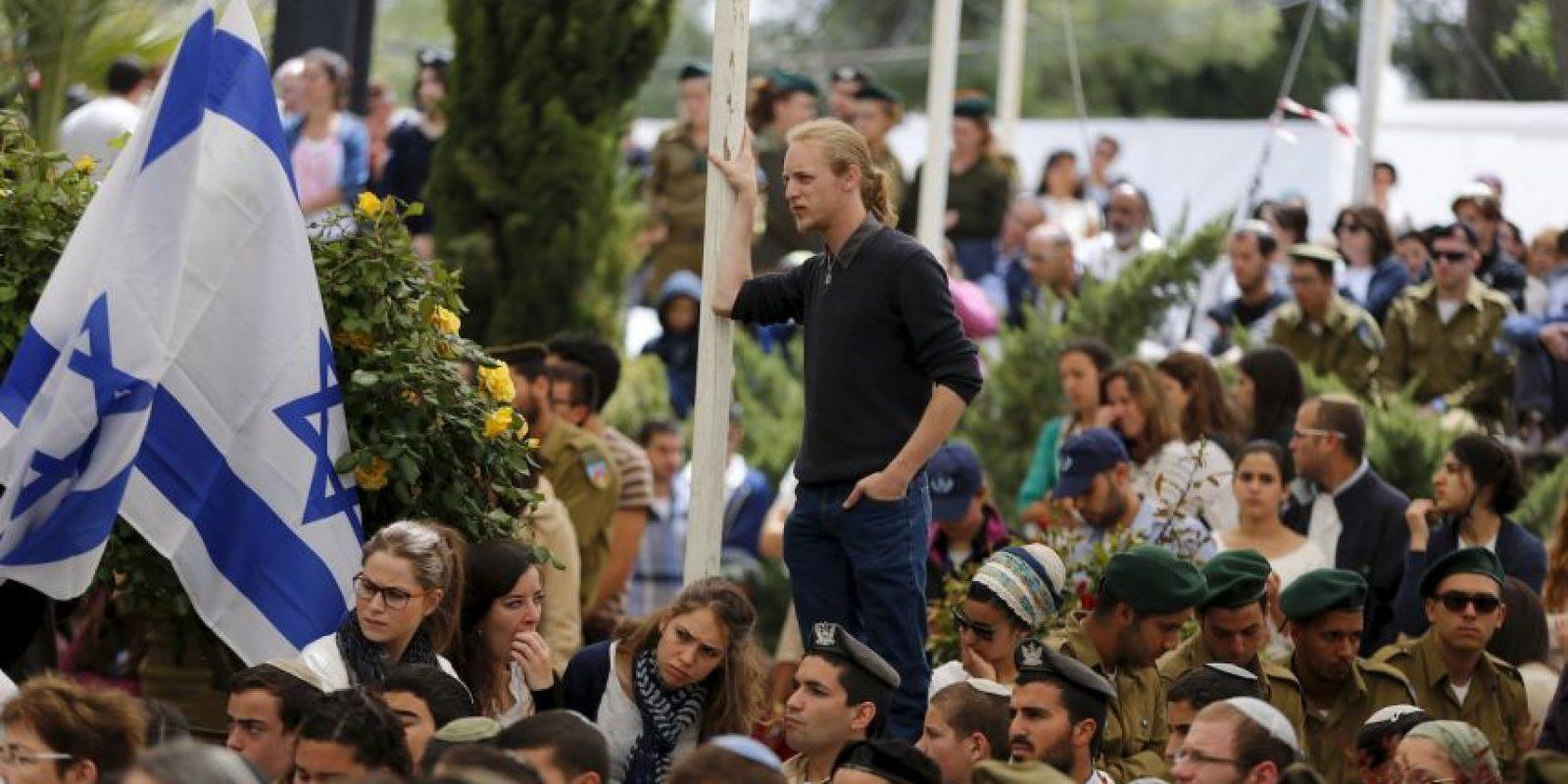 También se recuerdan a los muertos debido al conflicto árabe-israelí, incluyendo a las víctimas del terrorismo. Foto:AFP