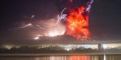 Las imágenes más impresionantes de la erupción volcánica en Chile