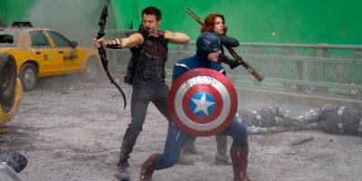 """Capitán América"", ""Black Widow"" y ""Hawkeye"" Foto:Facebook.com/avengers"