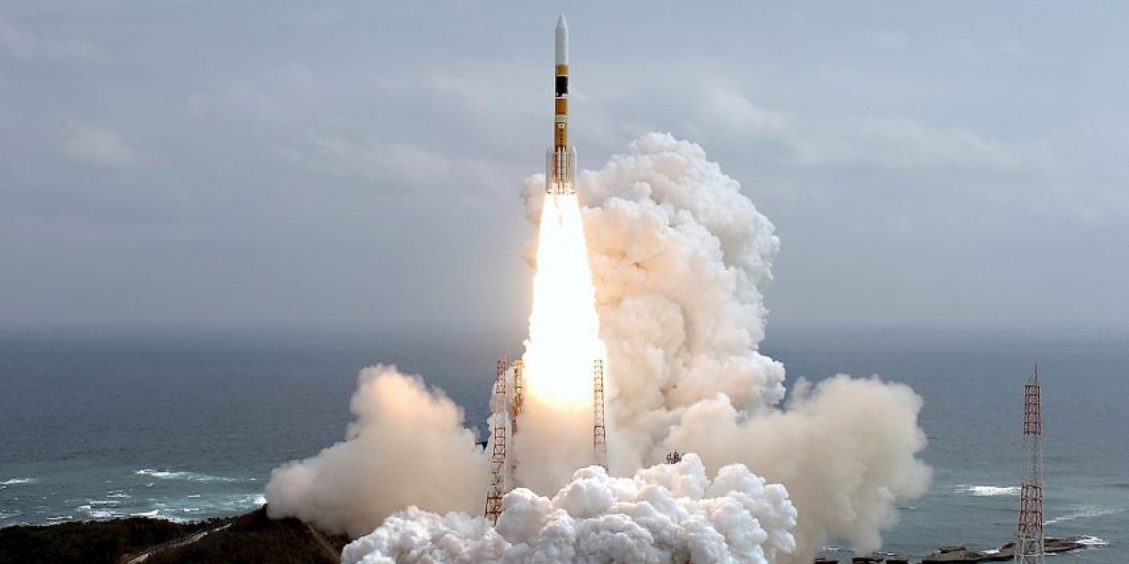 La primera misión japonesa bajo la JAXA fue el lanzamiento de un cohete H-2A, ocurrido en noviembre de 2003. Foto:Getty Images
