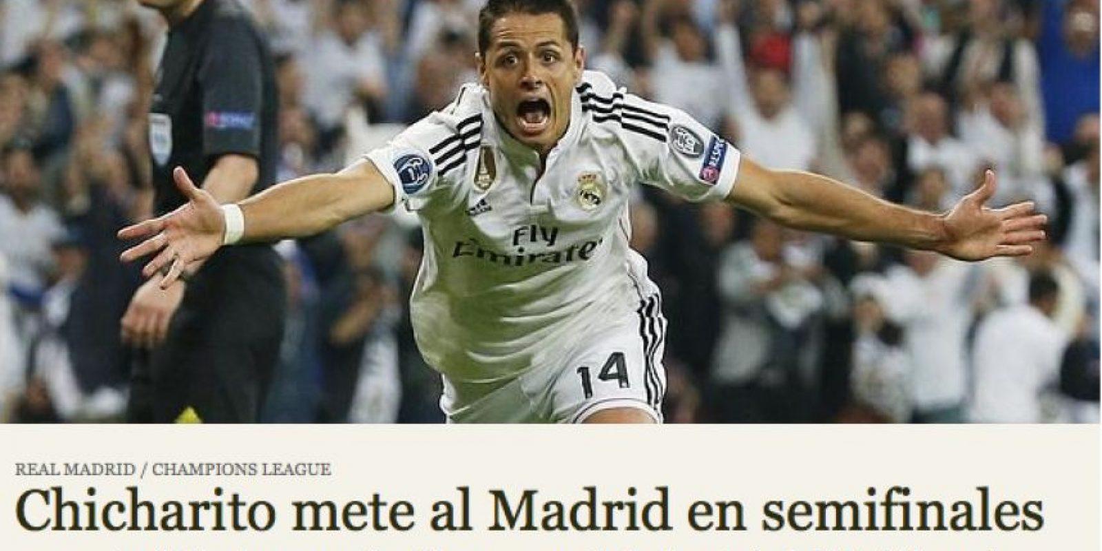 """""""ABC"""" destacó que fue el mexicano quien metió a Real Madrid a semifinales de Champions League. Foto:abc.es"""