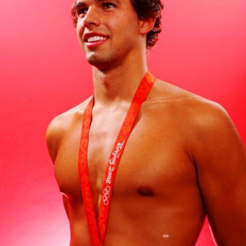 Al nadador Ricky Berens se le rompió su traje de baño en el Mundial de Natación de Roma, en 2009 Foto:Getty Images