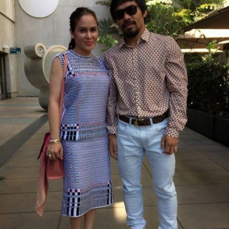 Pacquiao tiene 15 años de matrimonio con Jinkee Foto:Vía instagram.com/jinkeepacquiao