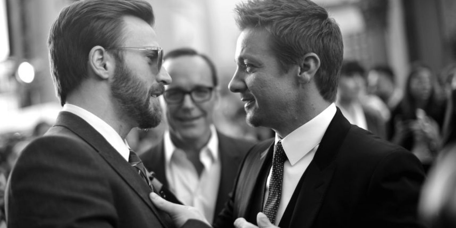 Chris Evans y Jeremy Renner. Foto: Getty Images
