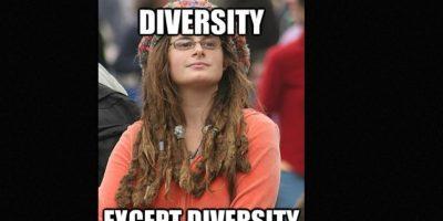 Bad Argument Hippie o College Liberal es un meme que se burla de las posturas hipócritas de los liberales, y también de los fallos de la cultura hippie. Foto:9gag