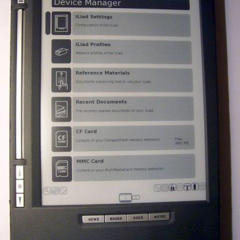 El iLiad es un lector de libros electrónicos desarrollado por la empresa holandesa iRex Technologies Foto:iRex Technologies