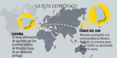 Monzón tendría a Honduras como punto final del periplo