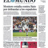 """Mientras que para """"El Mundo"""", el mexicano fue """"El héroe que necesitaba el Madrid"""". Foto:elmundo.es"""